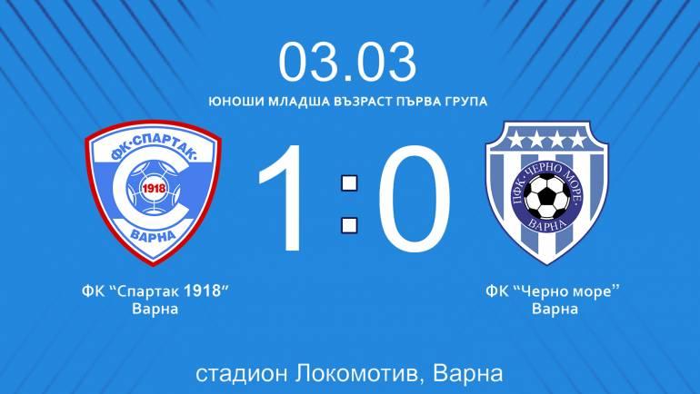 Срещата между отборите на Спартак Варна и Черно море завърши при резултат 1 : 0